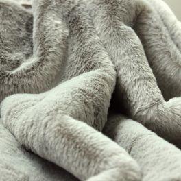 Faux fur short hair silver grey