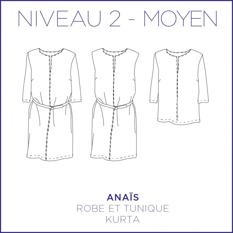 Pattern women tunique and dress Anaïs