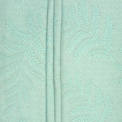Jacquard upholstery fabric - sea green
