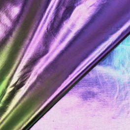 Waterproof fabric with metallic reflection