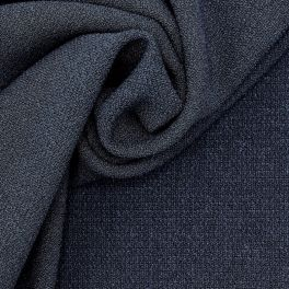 Extensible structured fabric - navy blue