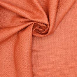 Tissu en coton et raphia corail