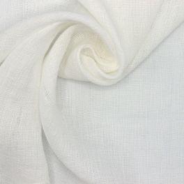 Sluier van katoen met tetrastof effect - wit