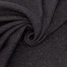 Extensible fabric with curls - black