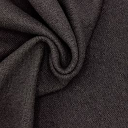 Apparel fabric in wool - black