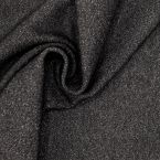 Twill fabric in wool and cotton - antracite
