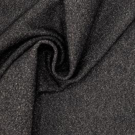 Twill en laine et coton  anthracite