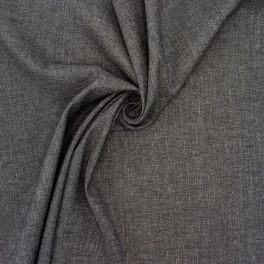 Rekbare stof - gespikkeld grijs
