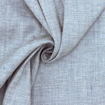Tissu extensible bleu gris chiné