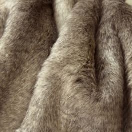 Faux fur with smooth fur