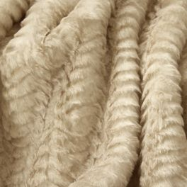 Faux fur with pattern - cream