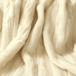 Striped faux fur - cream