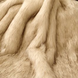 Faux fur - cream and brown