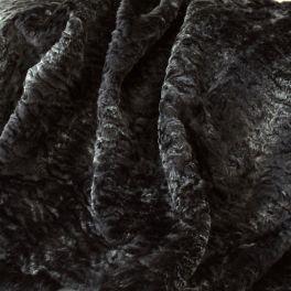 Astrakan faux fur - silver black