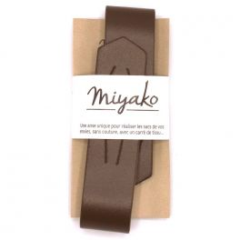 Unieke riem - chocoladebruin