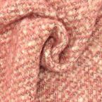 Wool fabric with aspect of curls - pink