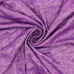 Crumpled jersey fabric - purple