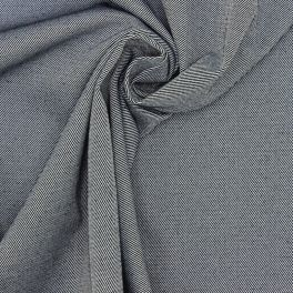 Extensible twill fabric with denim effect
