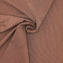 Fabric in cotton and polyester - rust