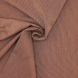 Tissu en coton et polyester rouille