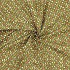 Tissu en coton à motif sur fond kaki