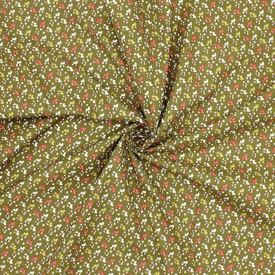 Cotton with pattern - khaki background