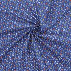 Cotton with pattern - blue background