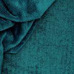 Tissu éponge bambou paon