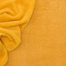Tissu éponge bambou moutarde