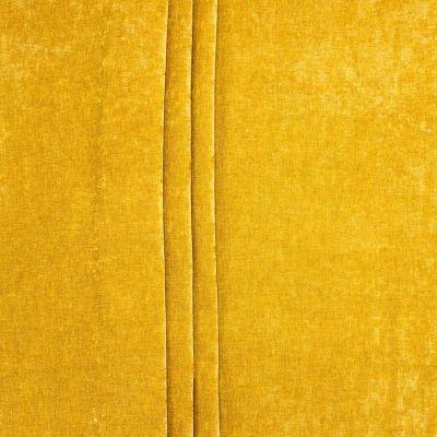 Stof met verouderd fluweel aspect - mosterdgeel