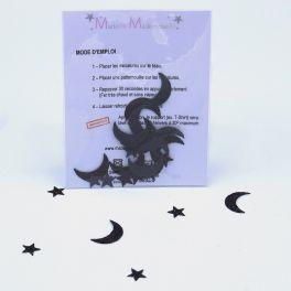 mini thermocollant lune noire