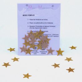 Iron-on patch star - gold