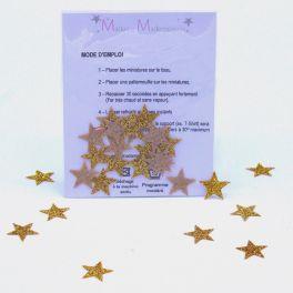 Mini opstrijkbare ster - goud