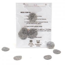 Mini opstrijkbare bol - zilver