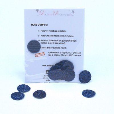 Mini opstrijkbare bol - blauw