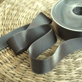 Double-sided satin ribbon brown