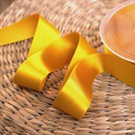 ruban satin jaune safran