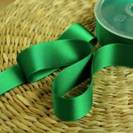ruban satin vert billard