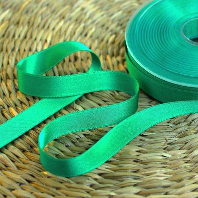 Double-sided satin ribbon malachite green