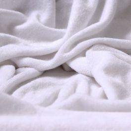 Stof in micro badstof enkelzijdig - wit