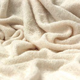 Tissu éponge bouclette 2 faces ivoire