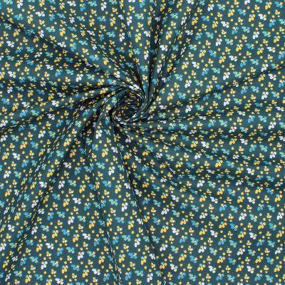 Tissu en coton à motif sur fond bleu nuit