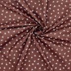 Printed cotton - plum background
