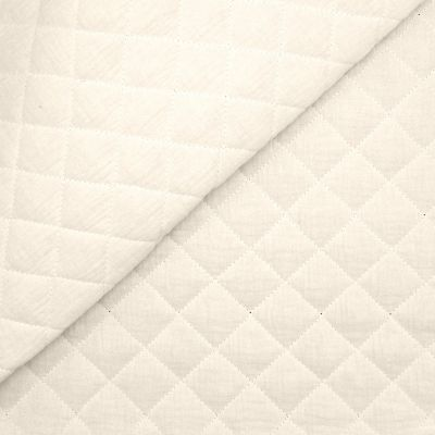 Quilted double cotton gauze - white