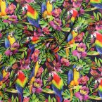 "Cotton printed with ""parrot"""