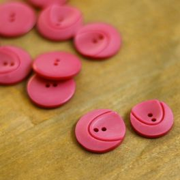 Resin button - pink