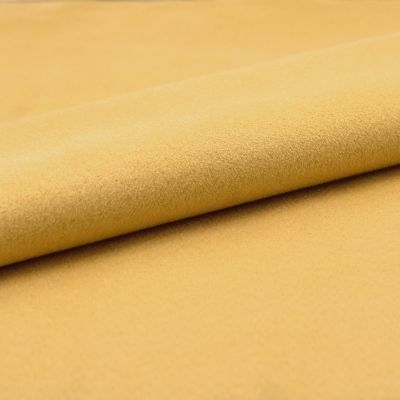 Microfibre fabric imitating suede - yellow