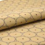 Tissu jacquard beige à motif