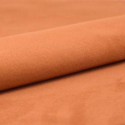 Stof met suede imitatie - verbrand oranje