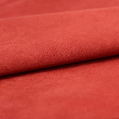 Microfibre fabric imitating suede - red